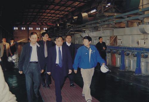 时任中共武汉市委副书记和市政法委书记程康彦到公司调研