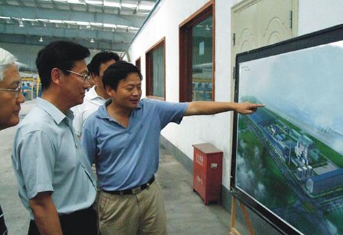 中共湖北省委副书记,武汉市委书记杨松到公司汉南工业园考察