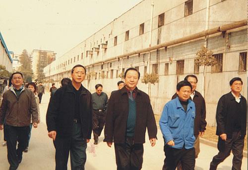 时任武汉市政协主席刘善壁到公司调研