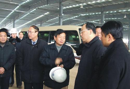 武汉市市长阮成发到公司汉南工业园考察